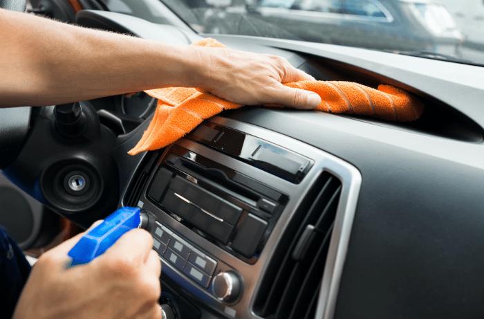 cruscotto, Come pulire il cruscotto auto