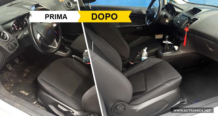 pulizia auto udine, Pulizia auto: prima e dopo