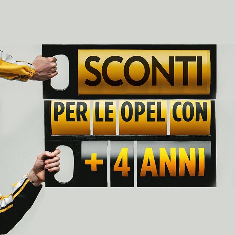 Opel 4plus, SCONTI Opel: 4plus per auto da 4 a 10 anni